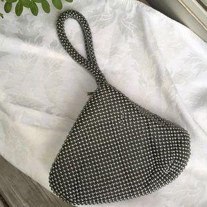 Handbags - Beaded day/ evening wristlet.Zip & magnetic close